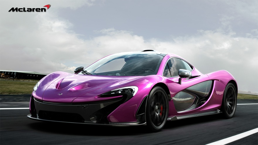 Rendering-New-McLaren-P1-in-Violet-Color-1